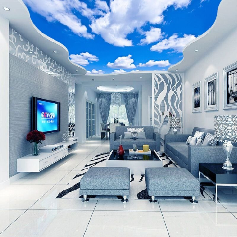 Best 3D Wallpaper Blue Sky White Clouds Murals For The Living With Pictures