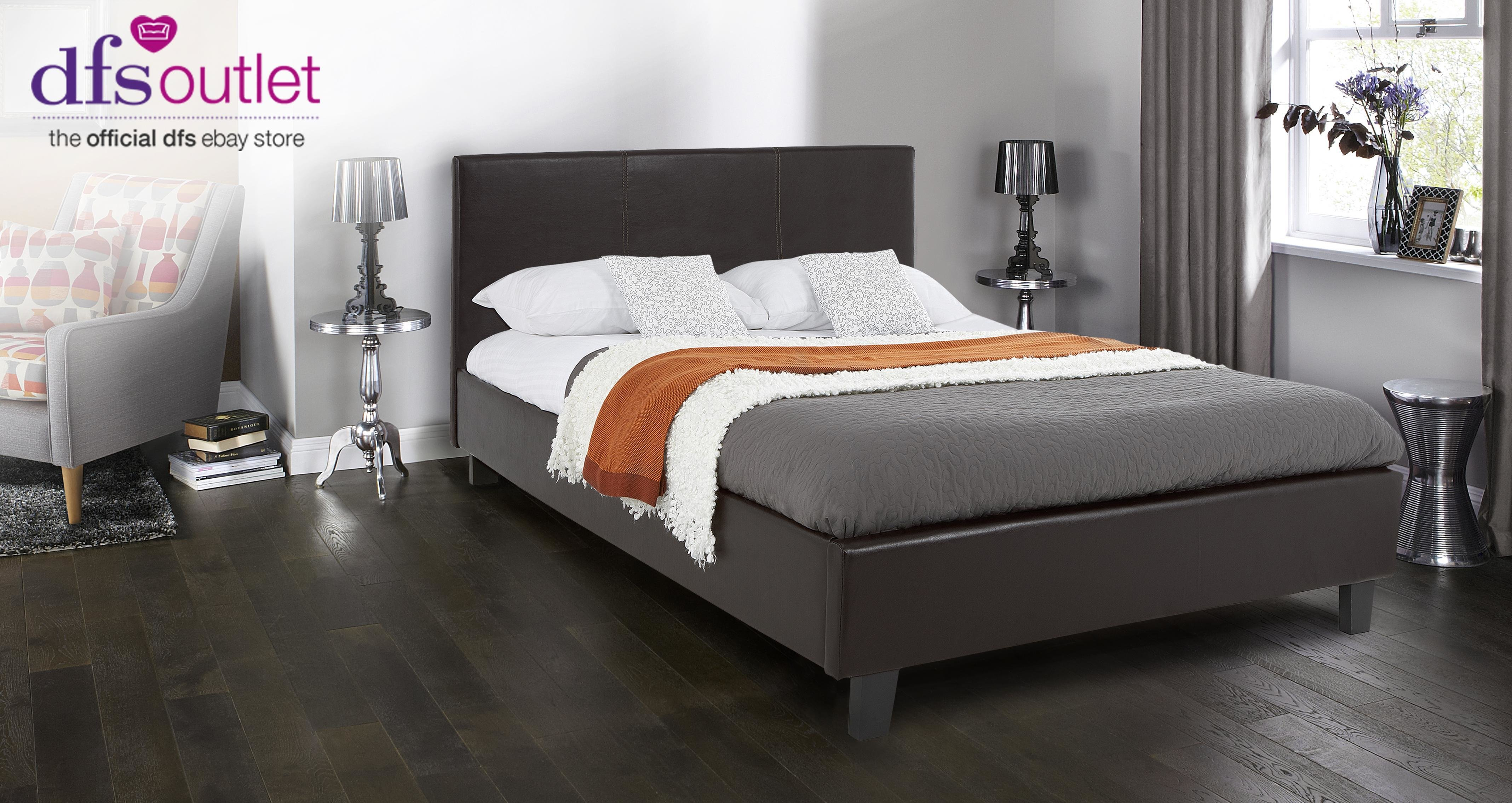 Best Dfs Relax 4Ft 6 Double Leather Bed Frame And Memory Foam With Pictures