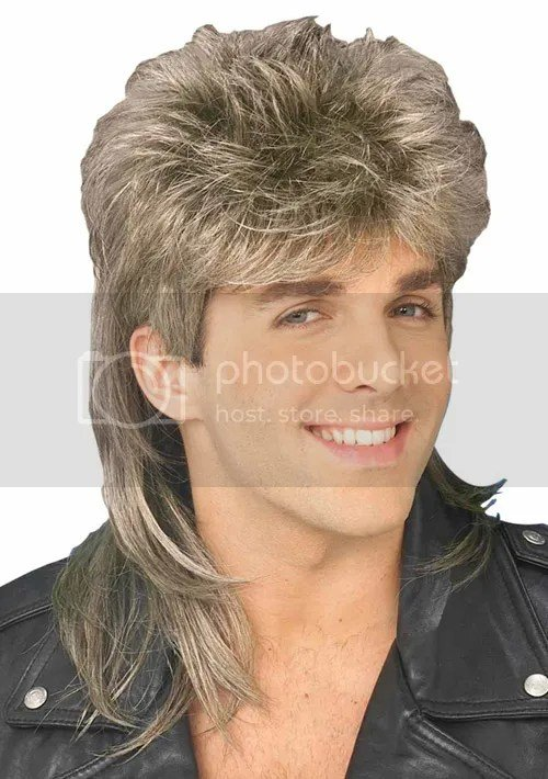 Free 1980S Blonde Brown Mullet Wig 80S Redneck Hairstyle Wallpaper