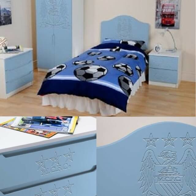Best Manchester City Children S Bedroom Furniture Set With Pictures