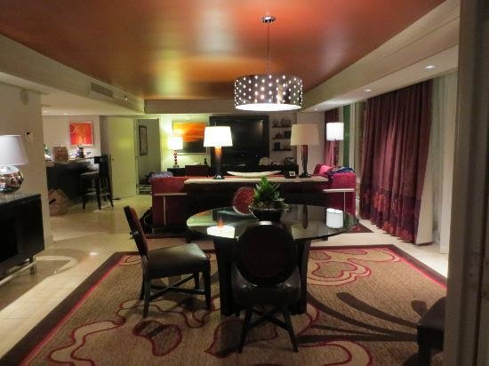 Best 2 Bedroom Tower Suite Living Area With Pictures