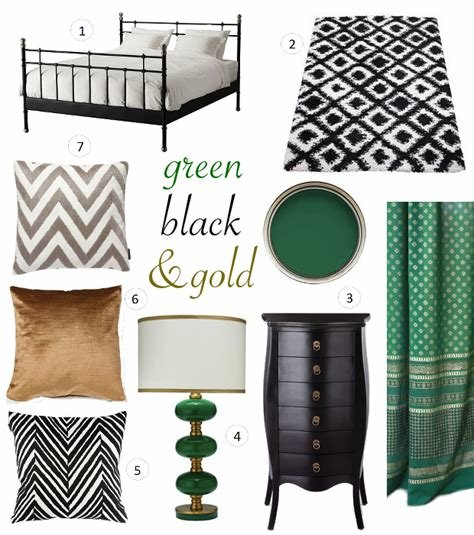 Best » Interior Ideas Black Emerald Green Gold Bedroom With Pictures