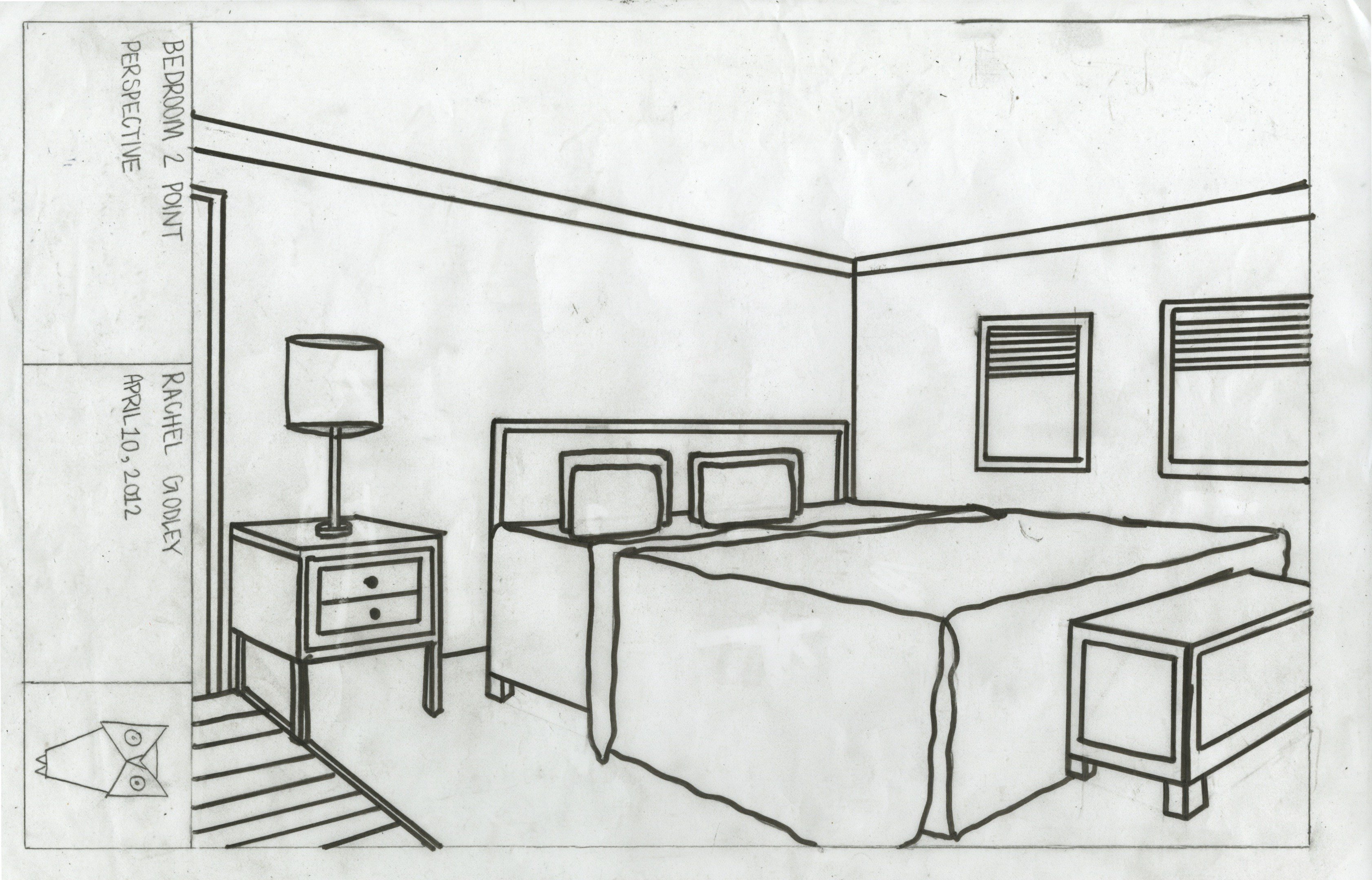 Best Drawn Bedroom Basic Interior Design Pencil And In Color With Pictures