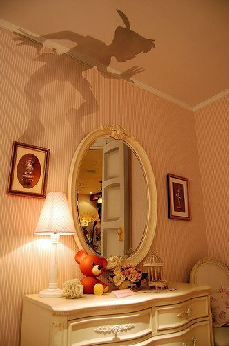 Best Peter Pan's Shadow Painted Onto A Bedroom Wall St With Pictures