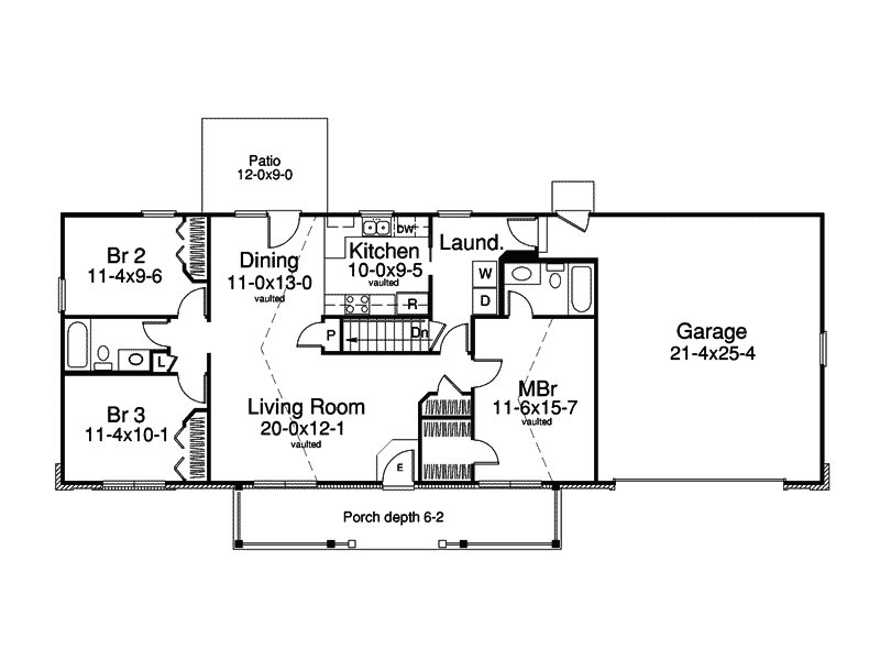 Best 3 Bedroom Ranch Style House Plans Design House Design And With Pictures