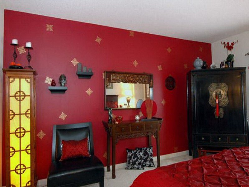 Best Bloombety Bedroom Red Wall Paint Design Ideas Bedroom With Pictures