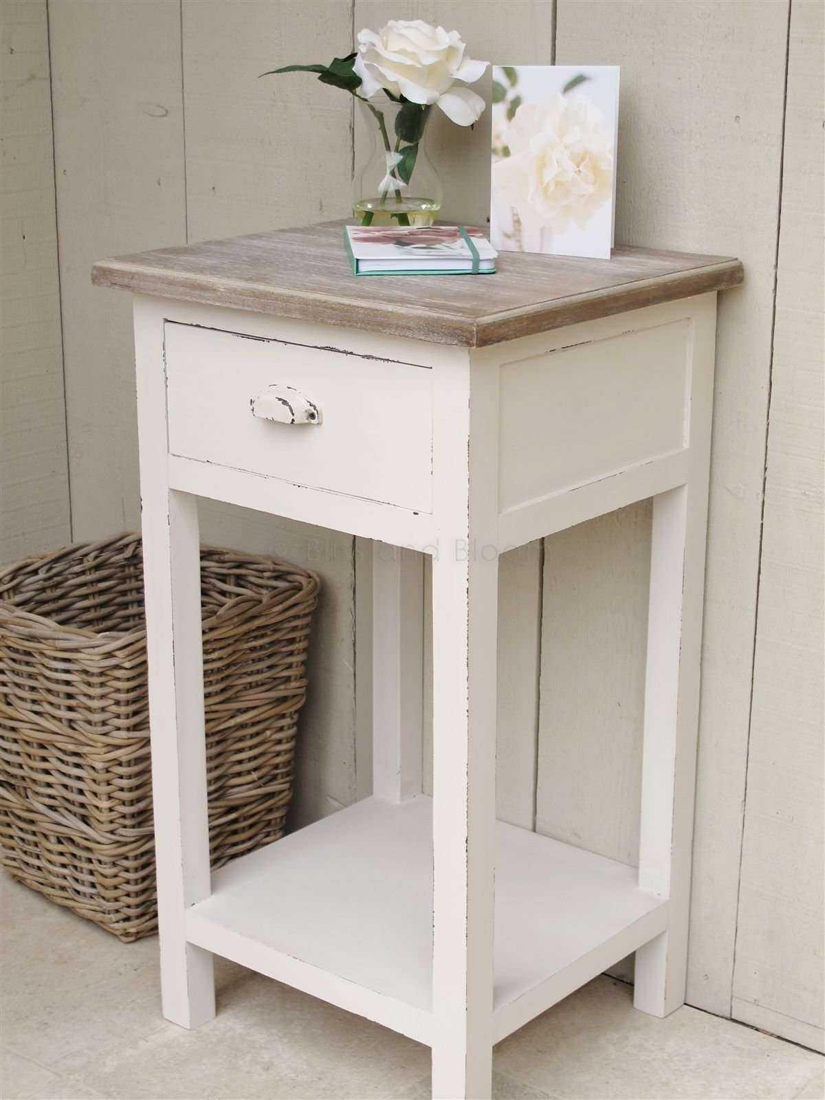 Best Off White Bedside Side Table Bliss And Bloom Ltd With Pictures