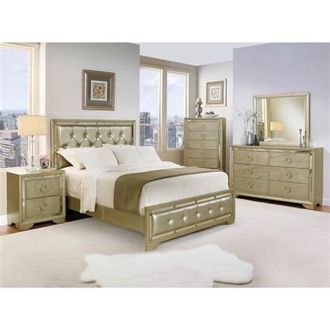 Best Abbyson Living Penelope Queen Size 6 Pc Mirrored Bedroom With Pictures