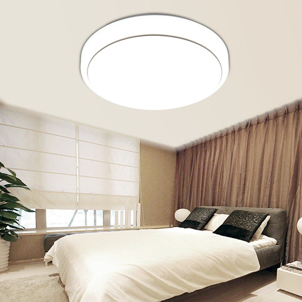 Best Round 18W Led Lighting Flush Mount Ceiling Light Fixtures 7000K Bedroom Kitchen Ebay With Pictures