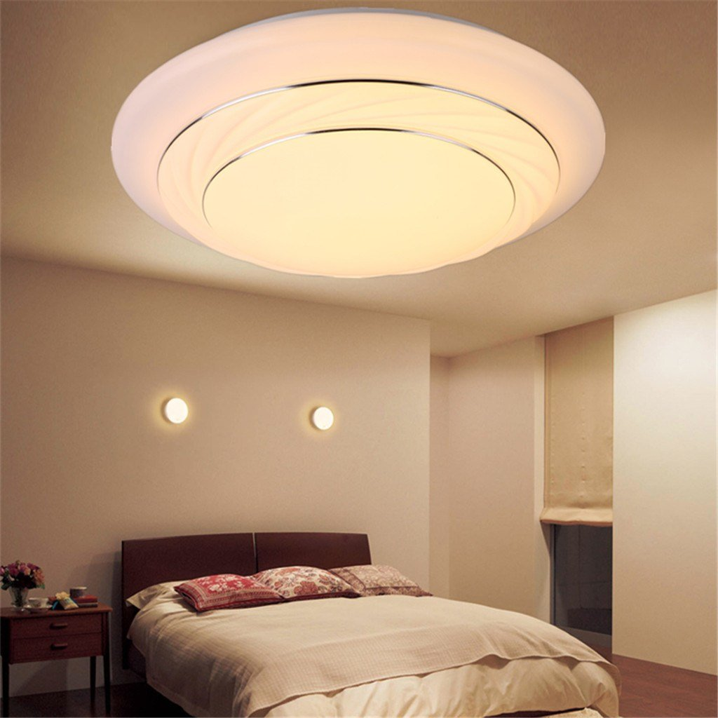 Best Modern Bedroom Led Ceiling Light 24W Living Room Surface With Pictures