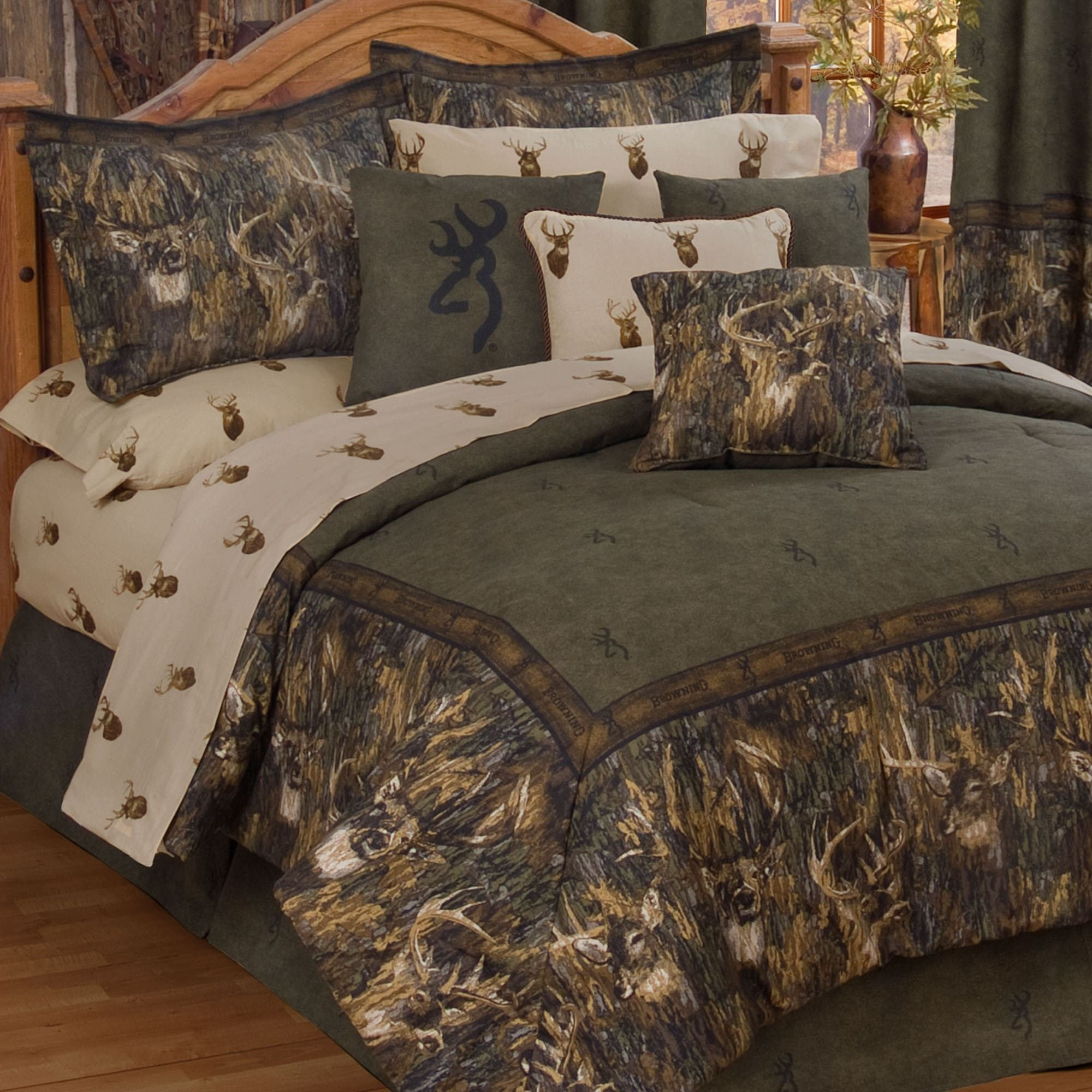 Best Browning R Whitetails Deer Camo Comforter Bedding With Pictures