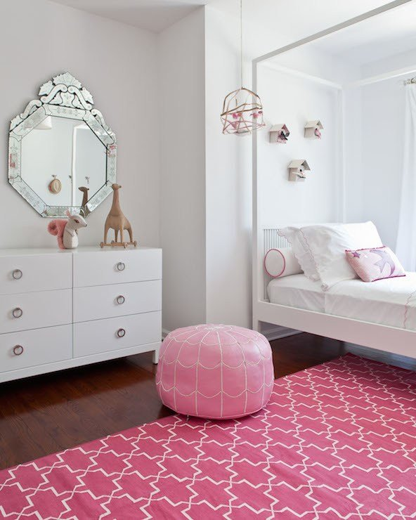 Best Pink Trellis Rug Contemporary Girl S Room S*Ssy And Marley With Pictures