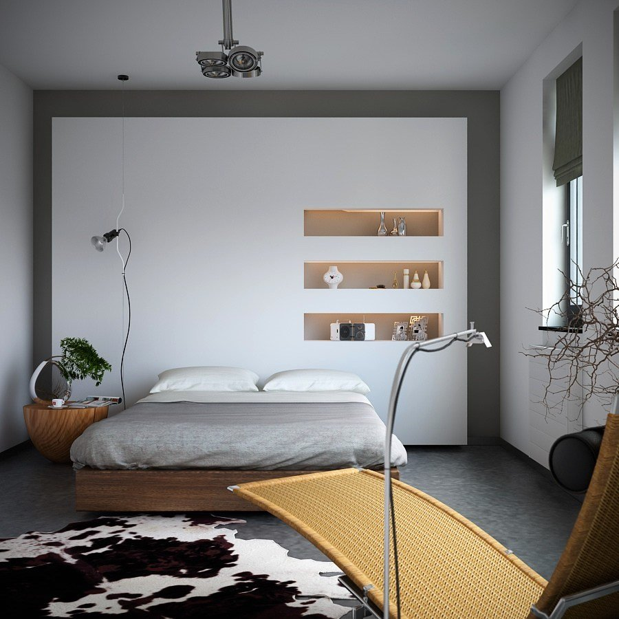 Best Organic Meets Industrial Bedroom With Monochrome Cowhide With Pictures