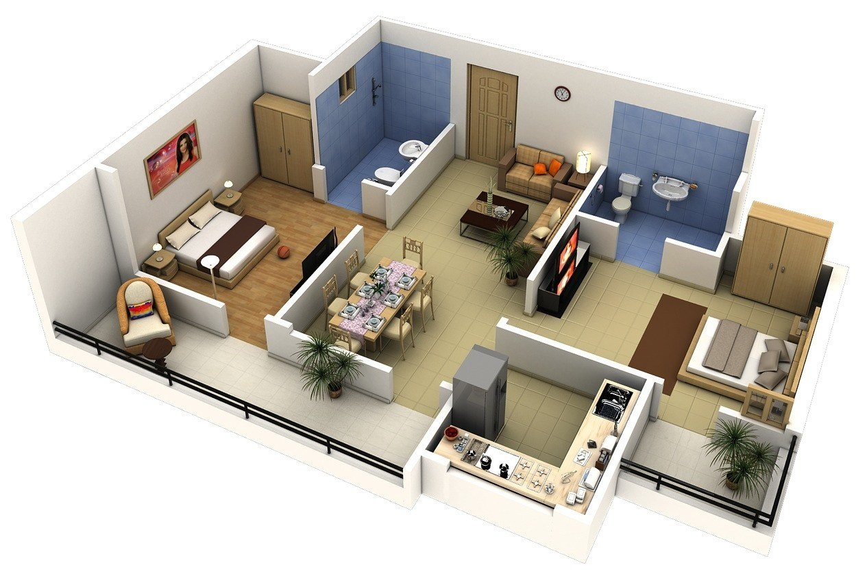 Best 2 Bedroom Apartment House Plans With Pictures