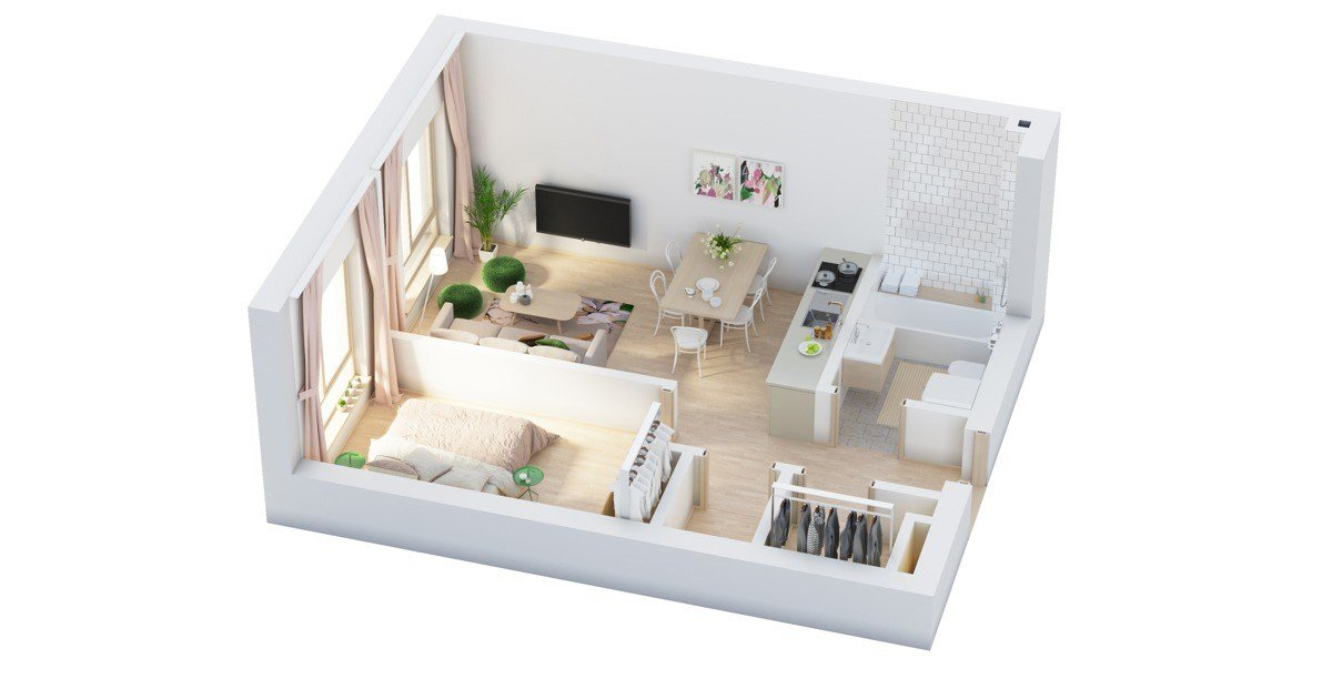 Best 40 More 1 Bedroom Home Floor Plans With Pictures