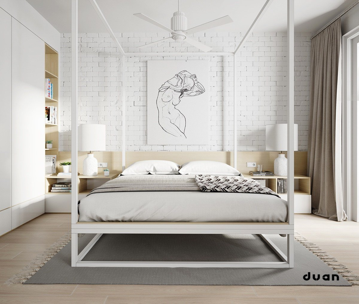 Best 32 White Bedrooms That Exude Calmness With Pictures