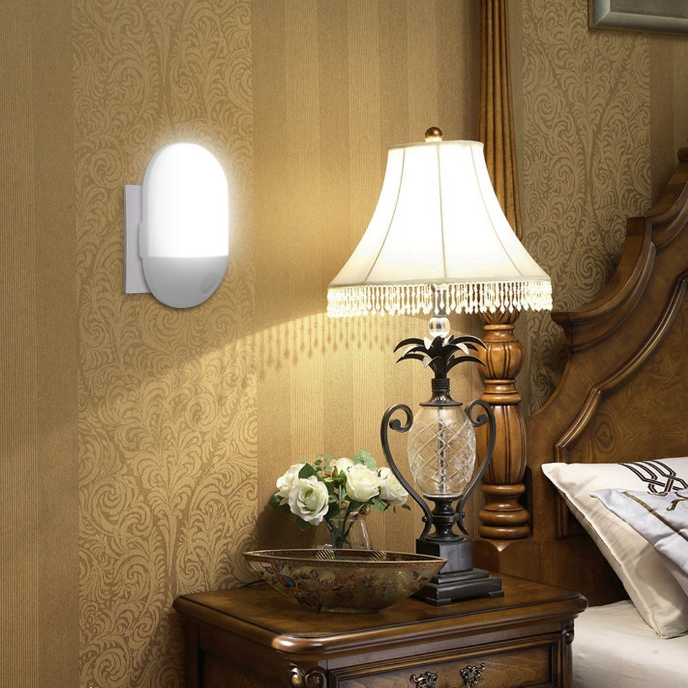 Best 2X Led Night Light Automatic Dusk To Dawn Sensor For With Pictures