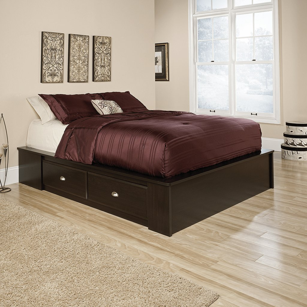 Best Sauder Shoal Creek Queen Platform Bed Home Furniture With Pictures