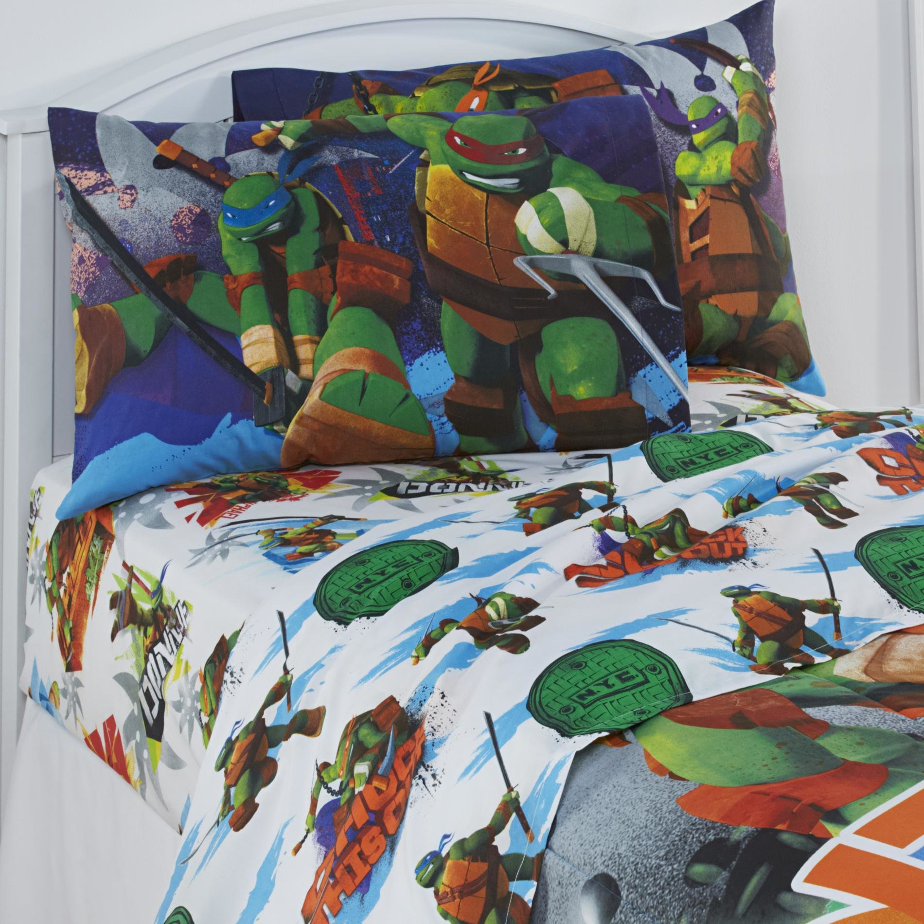Best Teenage Mutant Ninja Turtles Twin Bed Sheet Set Bedding With Pictures