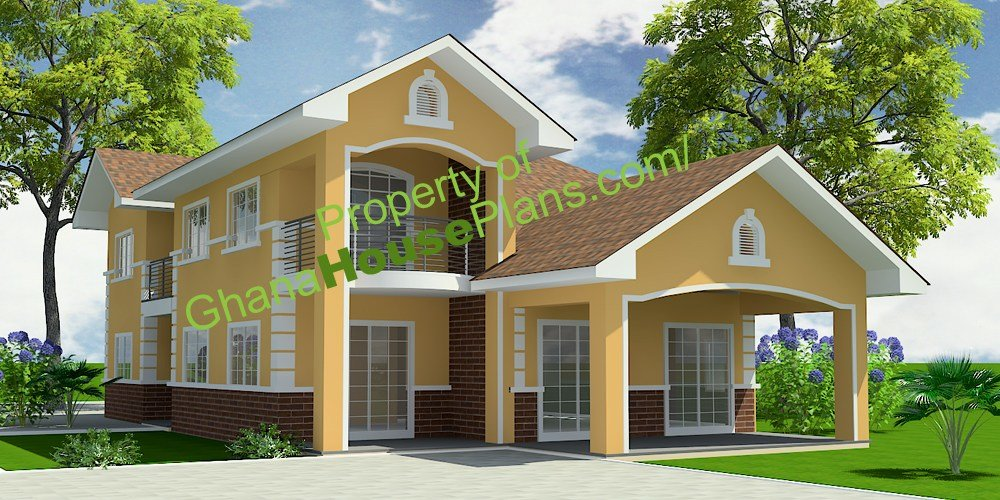 Best 5 Bedroom One Storey Single Family House Plan In Accra With Pictures