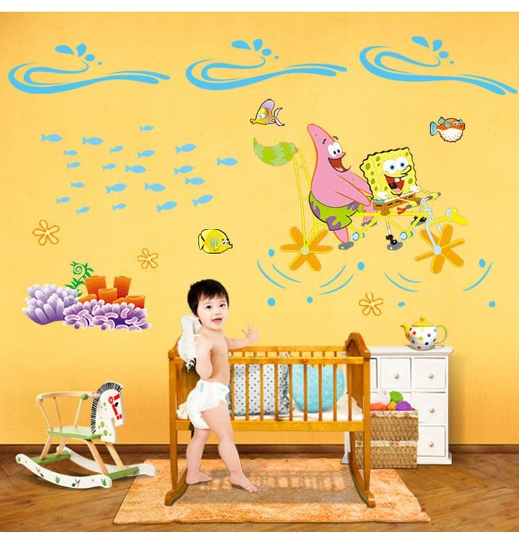 Best Cute Cartoon Vinyl Wall Stickers For Kids Room Princess Love Bedroom Art Large Decorative Wall With Pictures