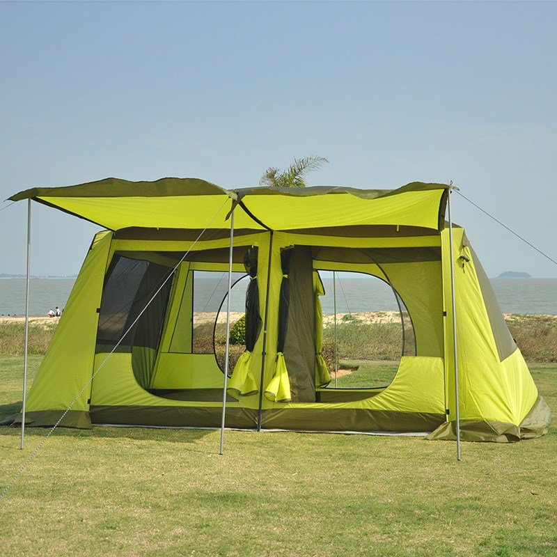 Best Two Bedroom One Hall Tent Outdoor 5 8 Persons Two Layer With Pictures