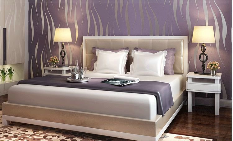 Best Purple Non Woven Wallpaper Tv Background Wallpapr With Pictures