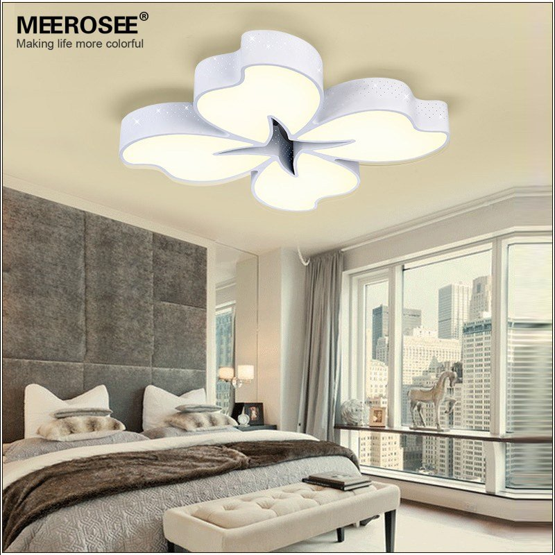 Best 54 Watt White Metal Base Led Ceiling Light Flower Fancy With Pictures