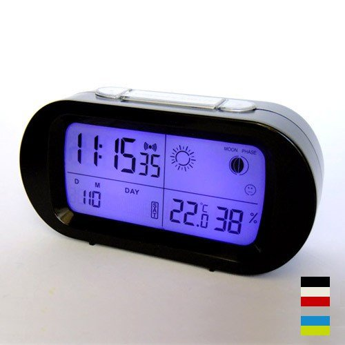 Best Led Snooze Alarm Clock With Backlight Calendar Weather With Pictures