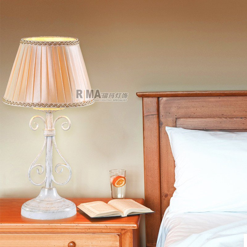 Best Hand Made White Painted Table Lamp For Bedroom Decorative With Pictures