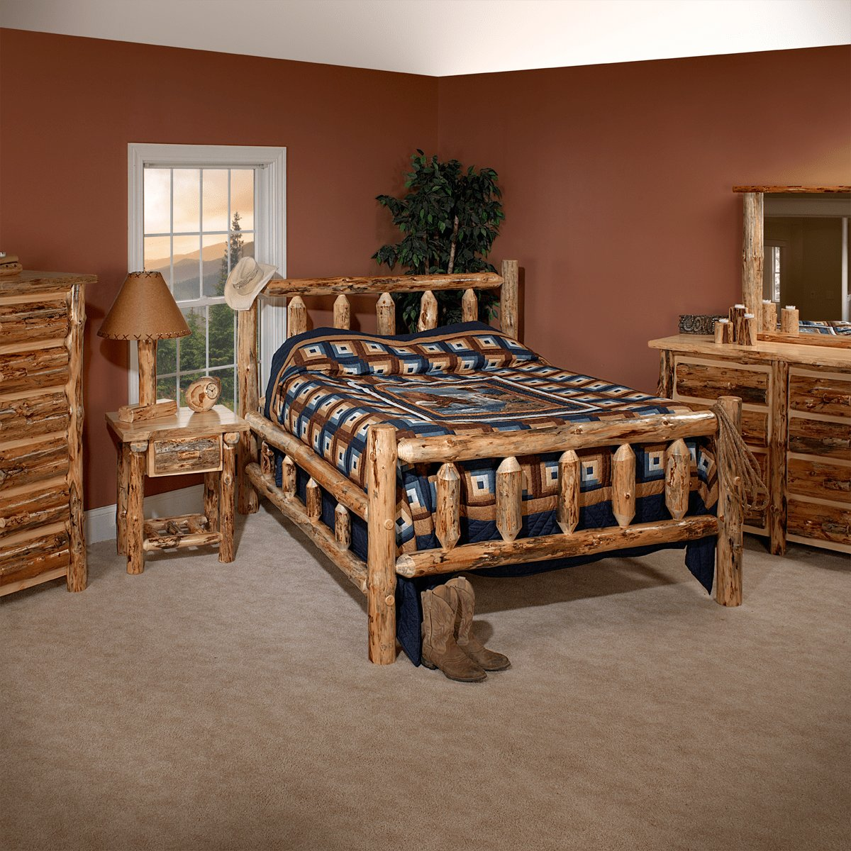 Best Lodge Pole Pine Bedroom Set Custom Dining Furniture With Pictures