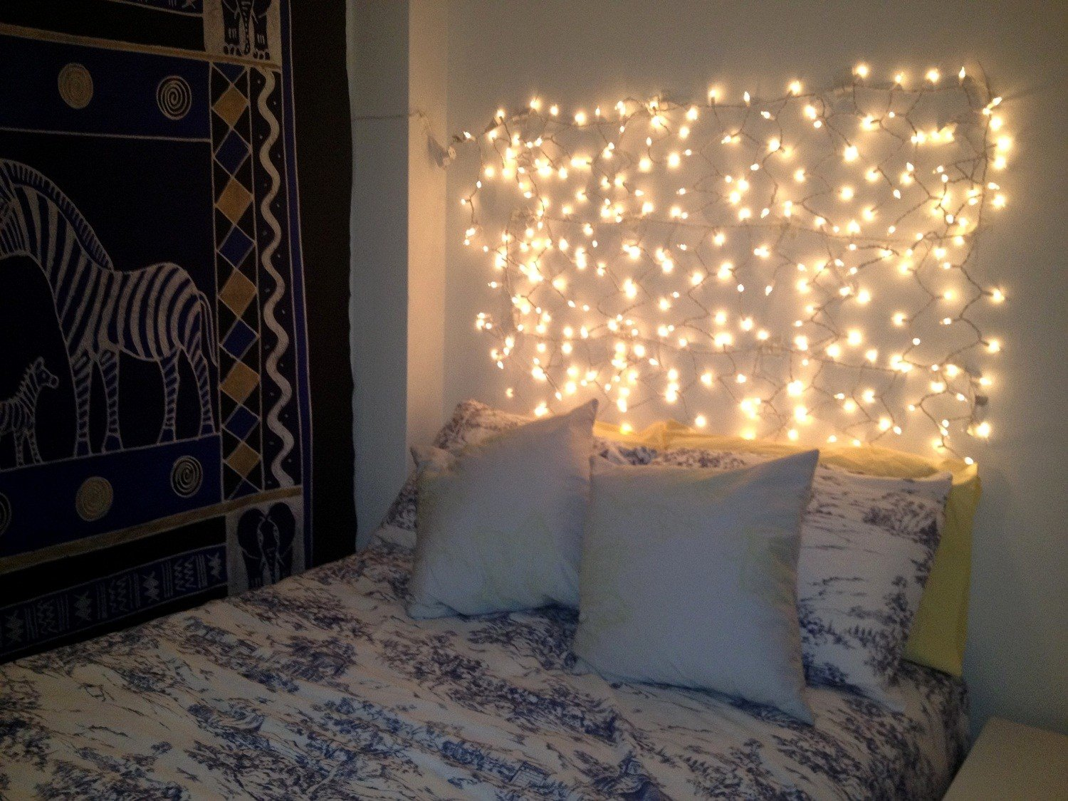 Best Hanging Wall String Twinkle Lights In Bedroom Over With Pictures