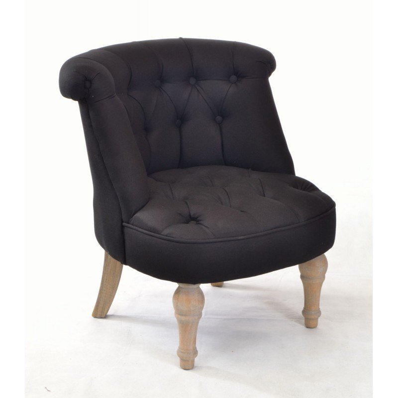 Best Buy A Small Bedroom Chair In Black Linen With Solid Wood Legs With Pictures