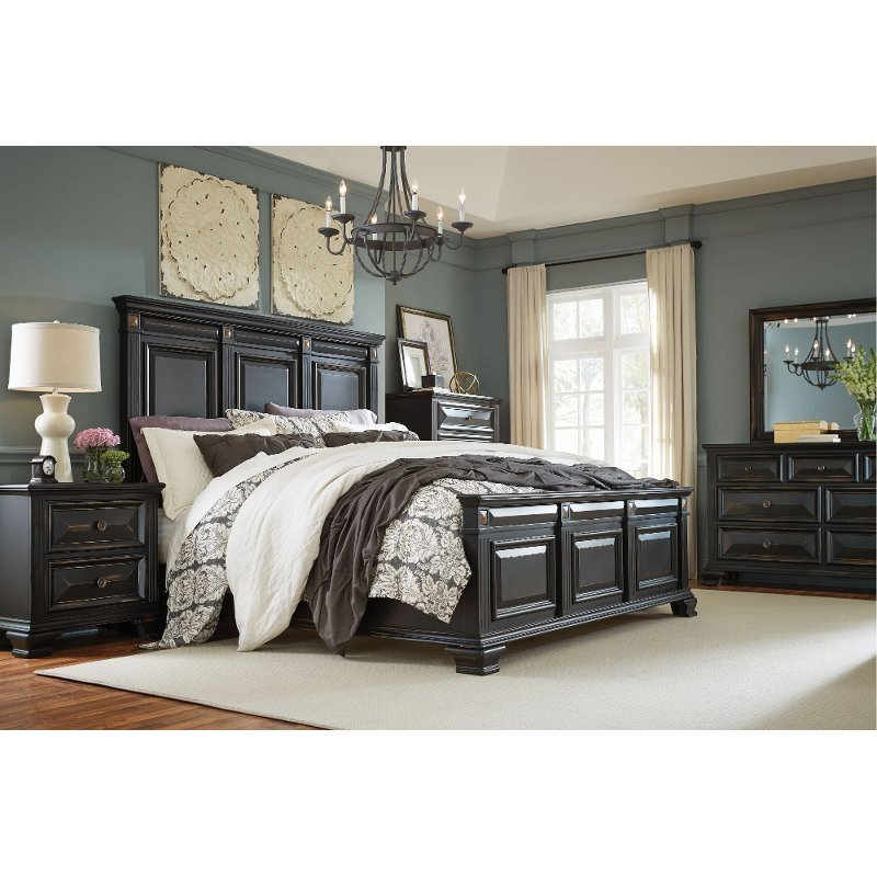 Best Black Traditional 6 Piece Queen Bedroom Set Passages With Pictures
