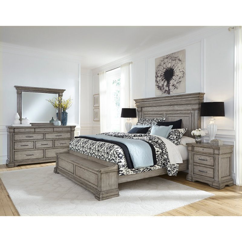Best Traditional Gray 6 Piece California King Bedroom Set Madison Ridge Rc Willey Furniture Store With Pictures