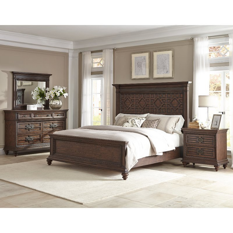Best Palencia Rustic Brown 6 Piece Cal King Bedroom Set With Pictures