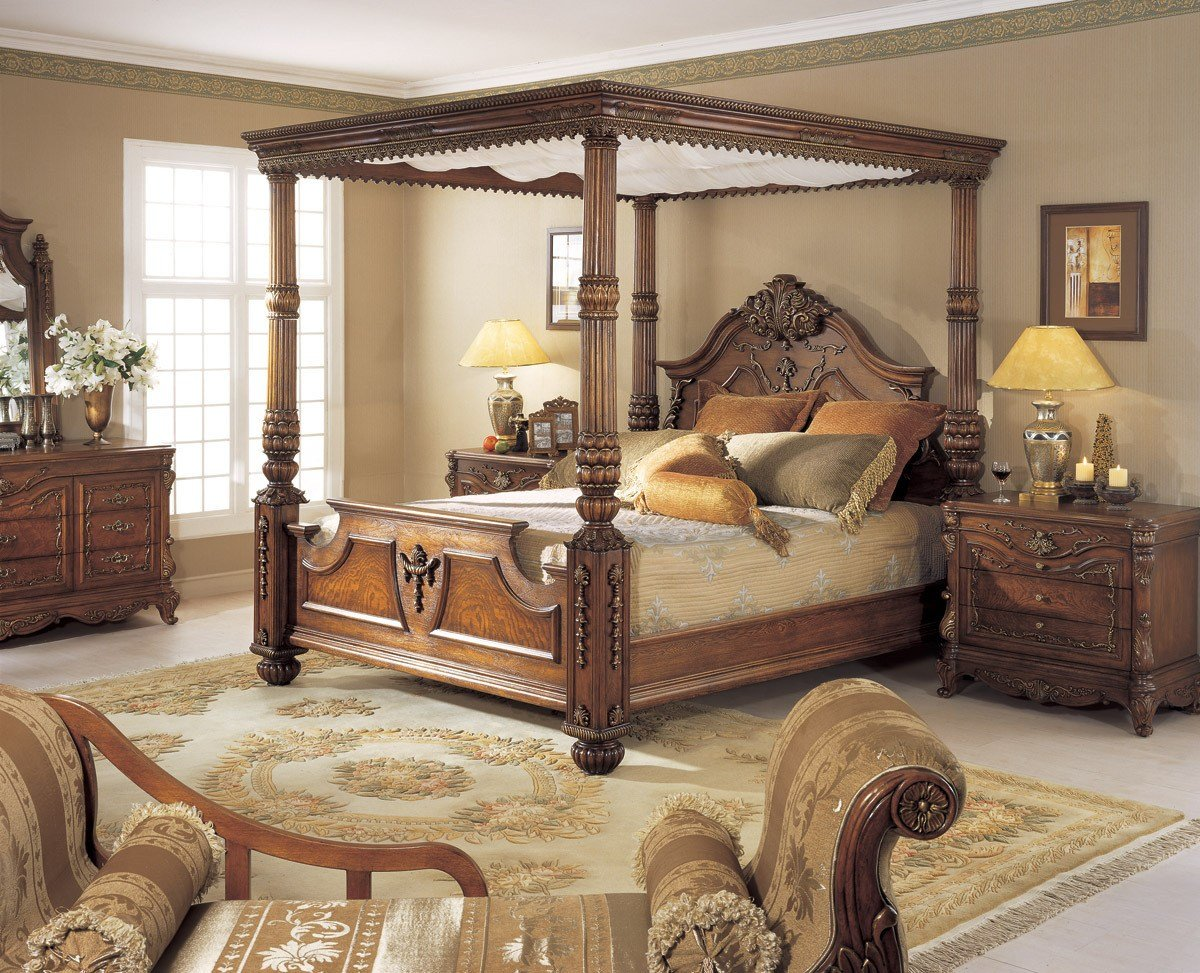 Best Orleans International 6 Pc Renaissance King Poster Bed W With Pictures