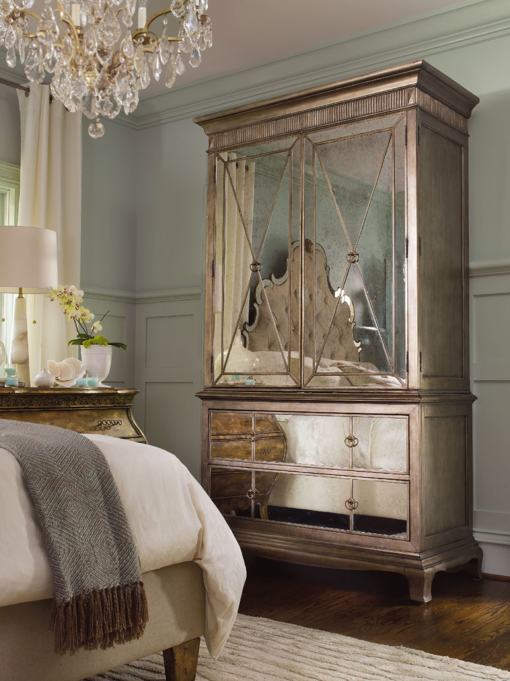 Best H**K*R Furniture Bedroom Sanctuary Armoire Visage 3016 90013 With Pictures