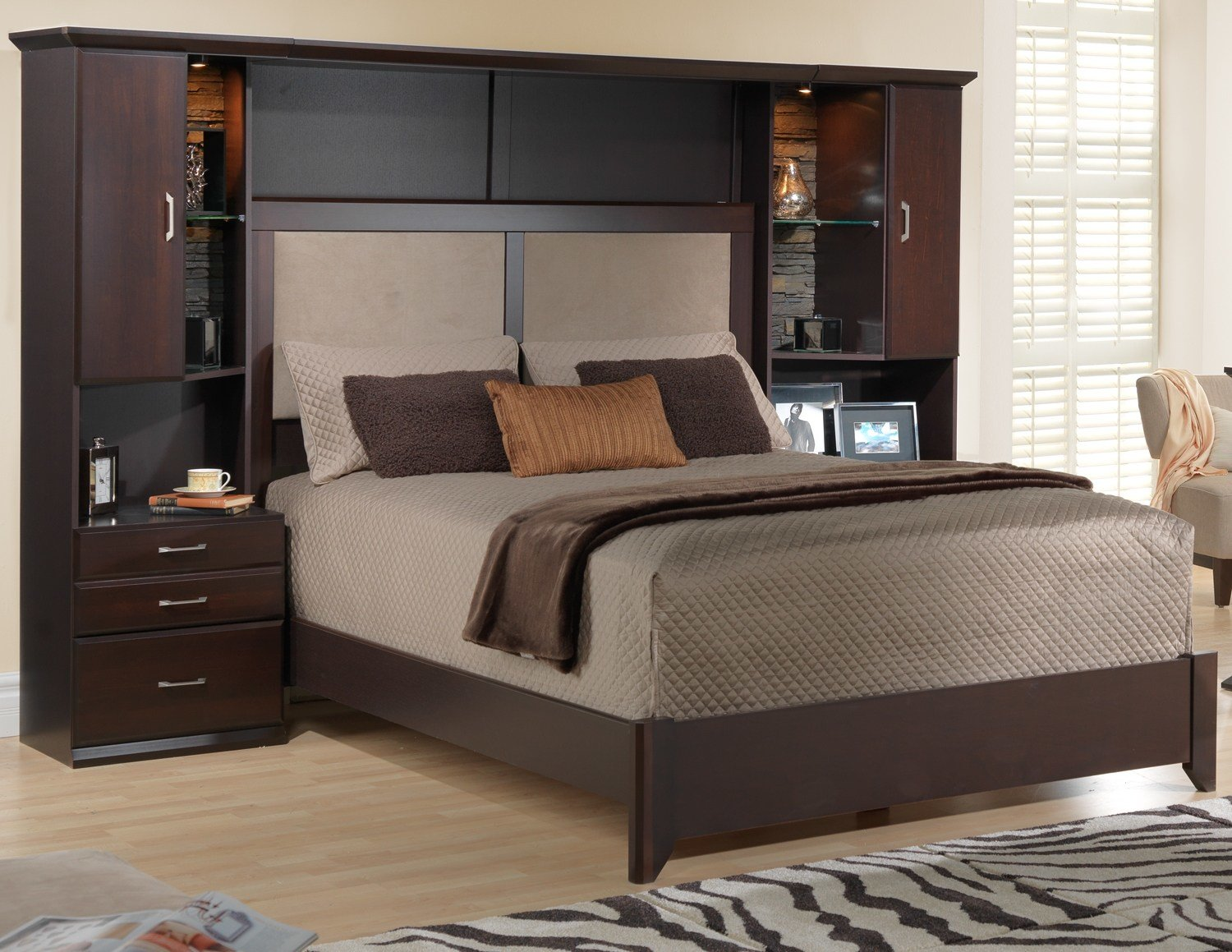 Best Bedroom Awesome Storage Headboard Queen With Royal Suite Palaces Design For Bed Ideas With Pictures