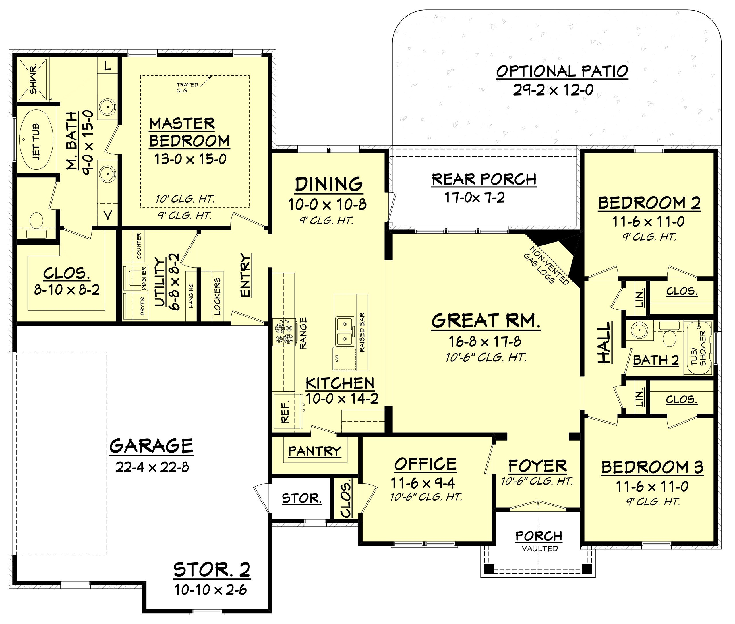Best House Plan 142 1075 3 Bdrm 1 769 Sq Ft Traditional Home With Pictures
