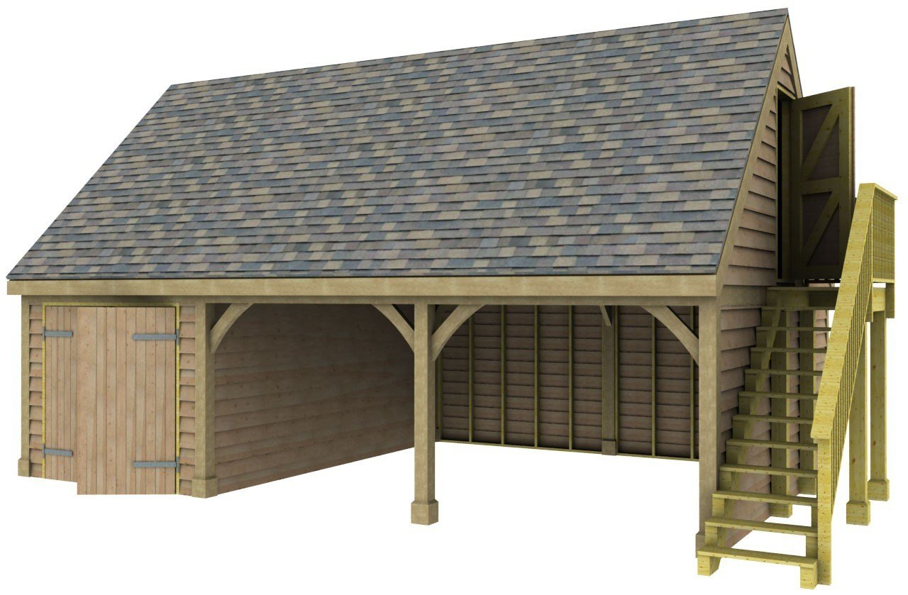 Best 2 Bay Garage With Store And Room Above Post Beam With Pictures