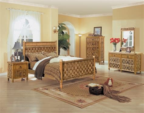 Best Tahiti All Natural Wicker And Rattan Bedroom 4 Pc Set From Seawinds Trading Ebay With Pictures
