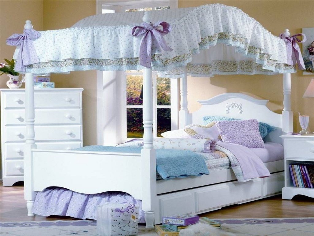 Best Girls Canopy Bedroom Sets Interior Bedroom Paint Colors With Pictures