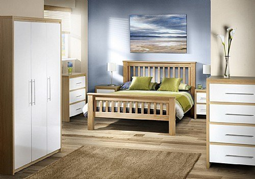 Best Stockholm Bedroom Furniture High Gloss White Oak With Pictures