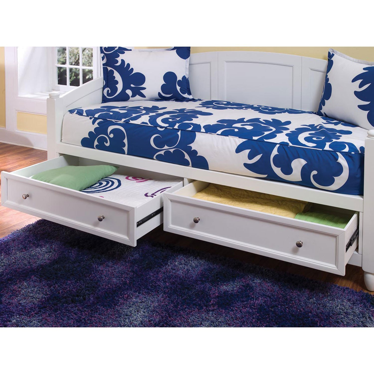 Best Naples White Daybed And Chest Home Styles Furniture Twin With Pictures