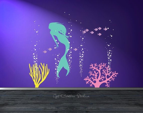 Best Mermaid Wall Decal Bigdiyideas Com With Pictures