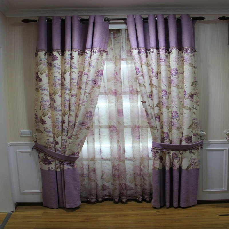 Best Floral Funky Bedroom Curtains Are Made Of Linen And Cotton Fabrics With Pictures