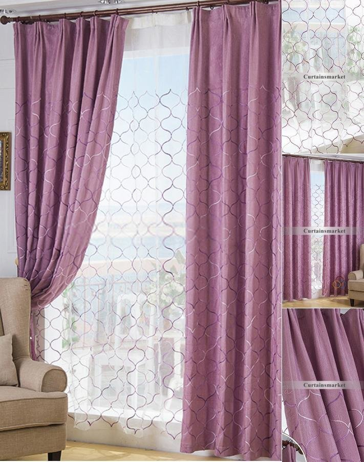 Best Purple Color Room Darkening Cheap Blackout Curtains Uk With Pictures