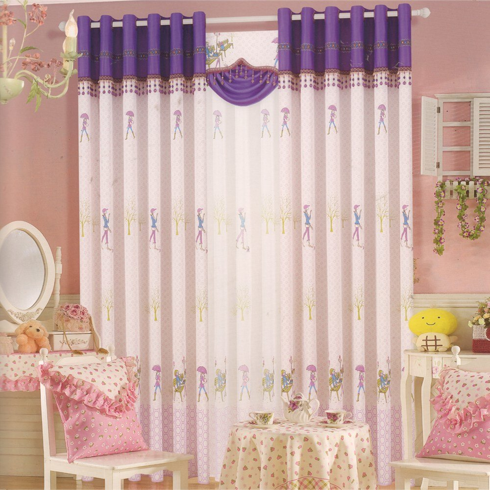 Best Pink Purple For Girls Room Best Living Room Curtains With Pictures