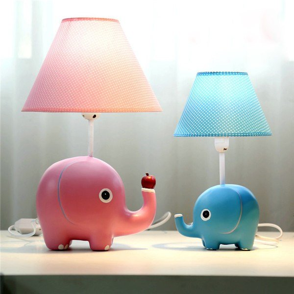 Best Elephant Table Lamp Bedroom Desk Children Study Light With Pictures